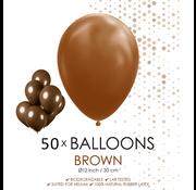 50 ballonnen bruin