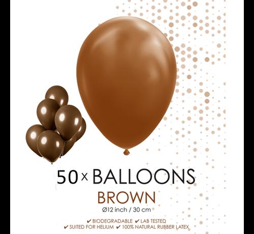 50 ballonnen bruin 12 inch