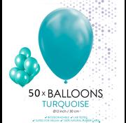 50 ballonnen turquoise