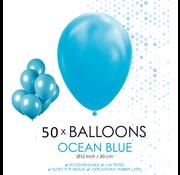 50 ballonnen oceaan blauw