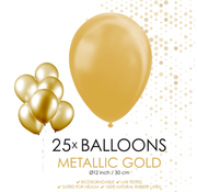 Goudkleurige metallic ballonnen