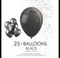 25 Zwarte metallic ballonnen