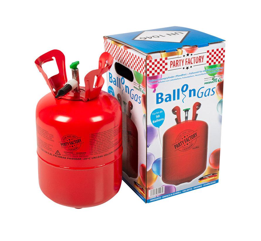 Wegwerp Helium tank 30 ballonnen