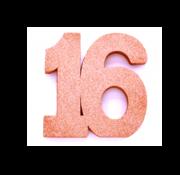 Tafeldecoratie verjaardag 16
