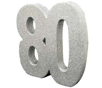 Tafeldecoratie zilver 80