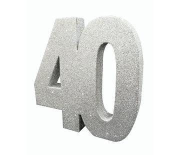 Tafeldecoratie zilver 40