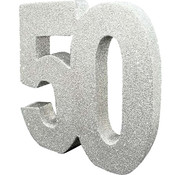 Tafeldecoratie zilver 50