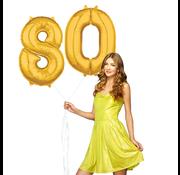 Ballonnen cijfers 80 gevuld