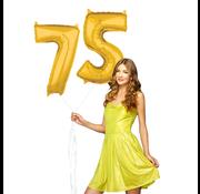 Ballonnen cijfers 75 gevuld