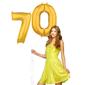 Ballonnen cijfers 70 gevuld