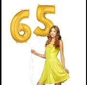 Ballonnen cijfers 65 gevuld