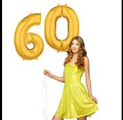 Ballonnen cijfers 60 gevuld