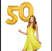 Ballonnen cijfers 50 gevuld