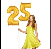 Ballonnen cijfers 25 gevuld
