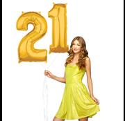 Ballonnen cijfers 21 gevuld