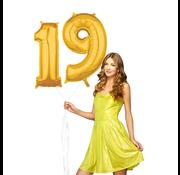 Ballonnen cijfers 19 gevuld