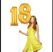 Ballonnen cijfers 18 gevuld