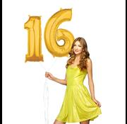 Ballonnen cijfers 16 gevuld