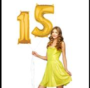 Ballonnen cijfers 15 gevuld