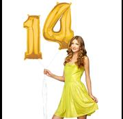 Ballonnen cijfers 14 gevuld