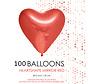 100 Chrome harten  ballonnen rood