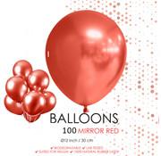 Chroom ballonnen rood