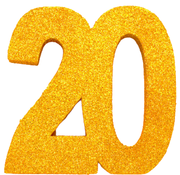 Tafeldecoratie goud 20