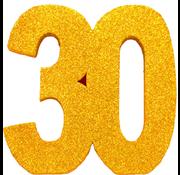 Tafeldecoratie goud 30