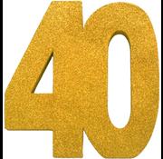 Tafeldecoratie goud 40