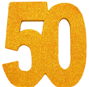 Tafeldecoratie goud 50