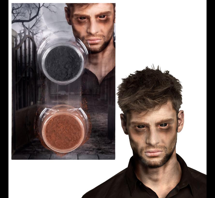 2 Potjes Zombie-poeder set