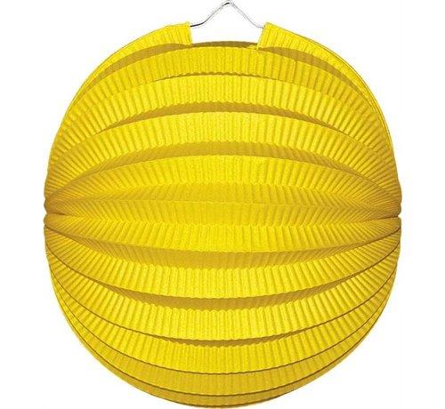 2 Bol lampionnen geel
