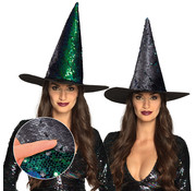Glitter heksenhoed