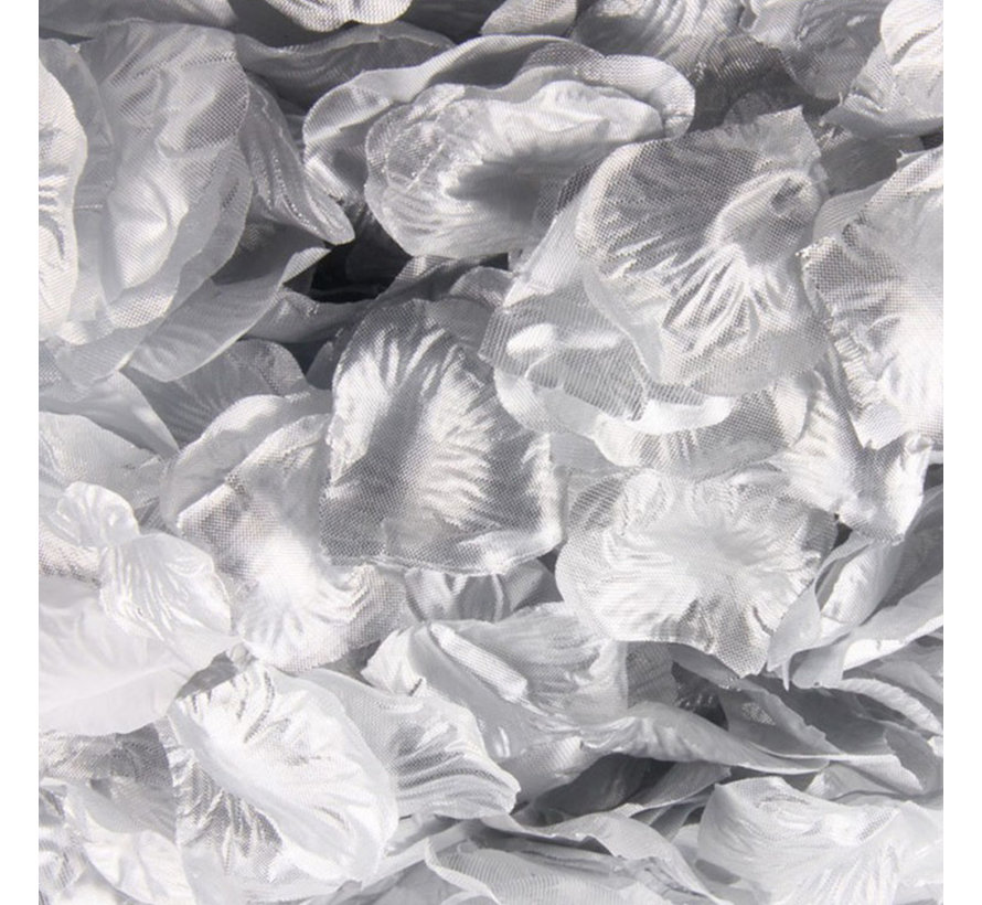 288 zilverkleurige rozenblaadjes