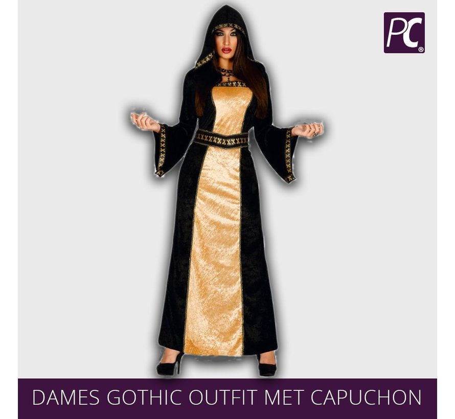 Dames Gothic outfit met capuchon