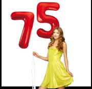 Rode cijfer ballonnen