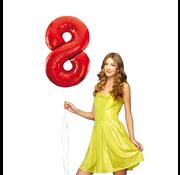 Rode cijfer ballon 8