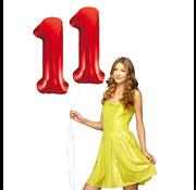Rode cijfer ballon 11