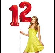 Rode cijfer ballon 12