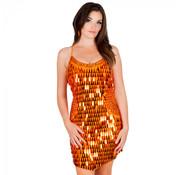 Oranje jurk pailletten