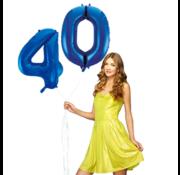Blauwe cijfer ballon 40