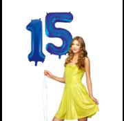 Blauwe cijfer ballon 15