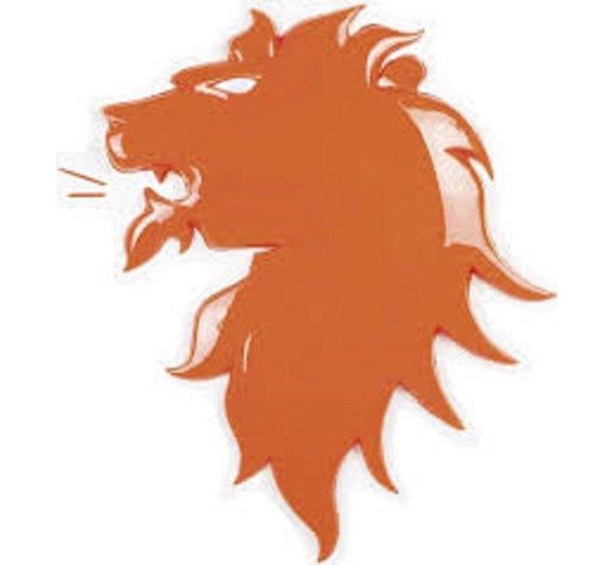 Oranje EK leeuw  wanddecoratie van pvc 3D