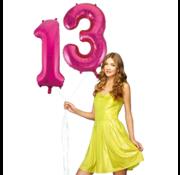 Pink cijfer ballon 13