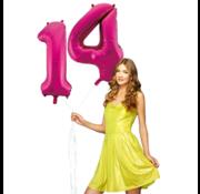 Pink cijfer ballon 14