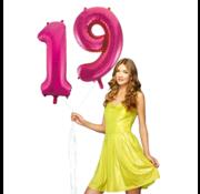 Pink cijfer ballon 19