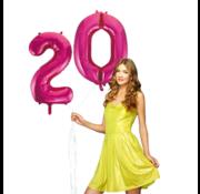 Pink cijfer ballon 20