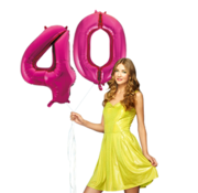 Pink cijfer ballon 40