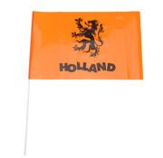 Zwaaivlaggetjes 40 cm oranje 5 stuks