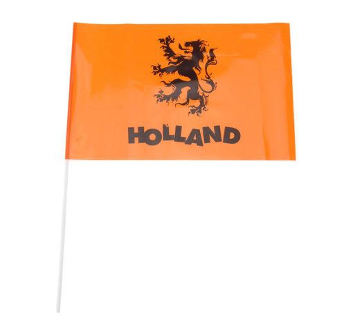 EK Zwaaivlaggetjes 40 cm oranje 5 stuks